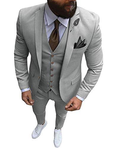 Frank Hommes Costume Cravate Revers 3 pièces Costume de Mariage coloré