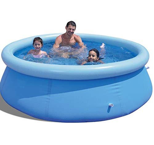 KUYT Rundes verdickter aufblasbares Schwimmbad Familienhaus planschbecken Faltbarer Multifunktionales Sommerwasserparty PVC-Material Fast-Set für 1-4 Personen 240 * 63cm