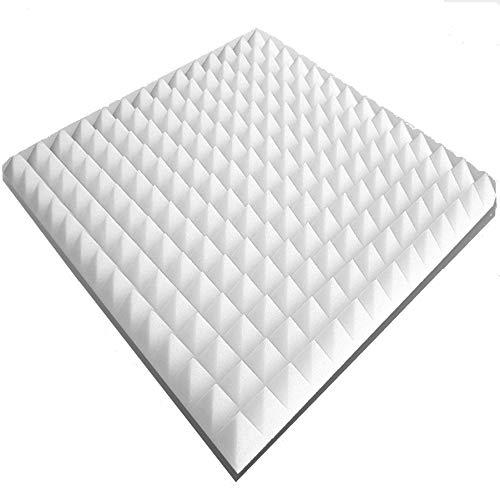 80 Pannelli in Pannelli acustici Circa 50x50x3cm, Bianco, Circa 20 m², Piramide Pannelli acustici, Pannelli acustici contorta