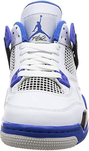 Jordan Nike 408452-006: Kids Air IV 4 Retro BG Black/Silver Basketball Sneaker (6 M US Big Kid)