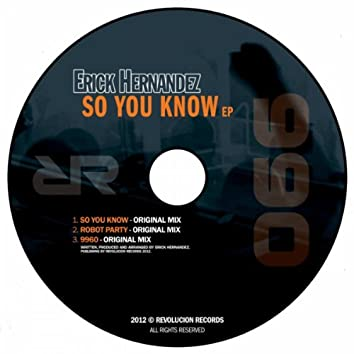 So You Know Ep