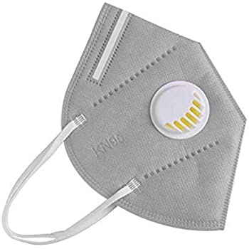 GlamFlox Washable Reusable 5 Layers N95 Plus Coatex Anti-Pollution Anti-Dust Face Mask with Filter Valve (Pack of 1) Grey - Universal Size