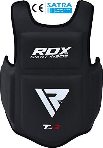 RDX Körperschutz Boxen Kampfsport Körperschutzweste Kampfweste Taekwondo Körperpanzer Bauchschutz(MEHRWEG)
