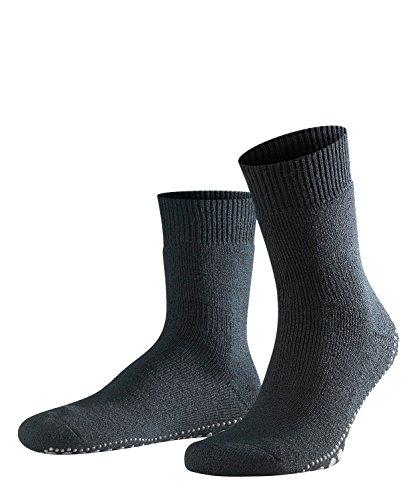 FALKE Herren Stoppersocken Homepads - Baumwoll-/Merinowollmischung, 1 Paar, Schwarz (Black 3000), Größe: 43-46