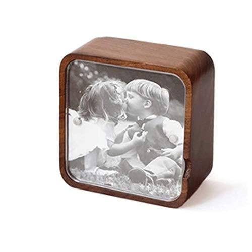SHYPT La Caja de música de Madera a Mano de Madera Cajas de música Mejor Regalo for cumpleaños for los niños (Color : B)