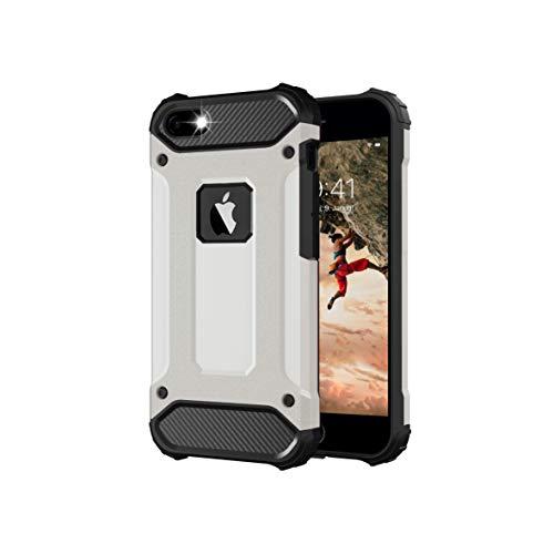 Funda para iPhone 5s de plata, iPhone 5, iPhone SE 2016 [iPhone 5 Outdoor Case Panzer Hardcase] Hybrid Protección completa Ultra Slim compatible con el iPhone 5/5S/SE 2016 Case