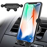 Phone Holder for Car, VASIVO 2020 New Gravity Air Vent Invisible Car Phone Mount, Auto-Clamp in One Step Car Phone Holder for All Smartphones (Grey)
