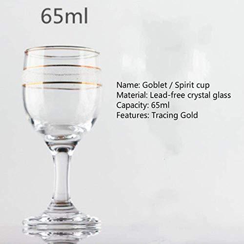 65ml 125ml Shot Glass Glas van de wodka Lead-Free Crystal Glasdrinkbeker Rode Wijn Glaskop proefglazen Bar Familie tassen, 125ml zhihao (Color : 65ml)