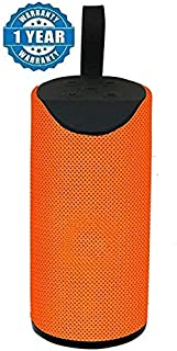 TG 113 Wireless Portable Bluetooth Music and MP3 Player Mobile Speaker, AUX Cable,Pen Drive Supported (Orange)