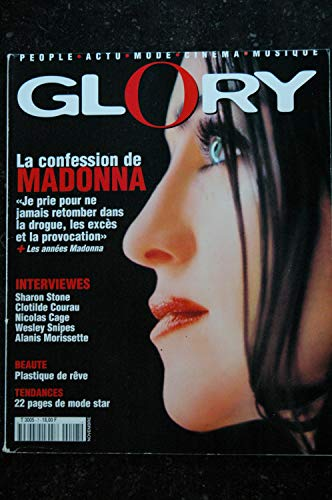 GLORY 7 1998 COVER MADONNA LA CONFESSION + LES ANNEES MADONNA + 14 PAGES JANE BIRKIN