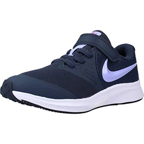 Nike Star Runner 2 Running Shoe, Thunder Blue/Purple Pulse-Fireberry-White, 35 EU