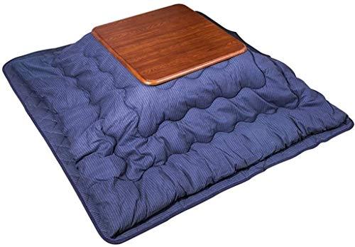 BESTPRVA Kotatsu Table Set Tables Japanese Kotatsu And Futon Set Household Square Storage Heating Winter Heating Japanese Tatami Coffee (Color : 80 * 80cm, Size : Blue)
