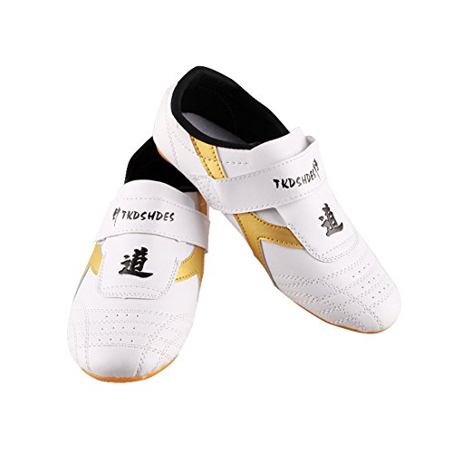 Taekwondo Shoes, Breathable Kung Fu Tai Chi Shoes for Adults and Kids (Size : 45) Beige