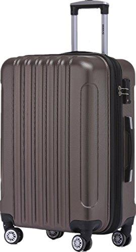 BEIBYE TSA Schloß 2050 Hartschale Trolley Koffer Reisekoffer in M-L-XL-Set (Coffee, 55cm)