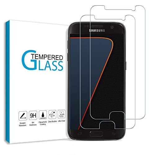 Carantee 2 Stück Panzerglas Schutzfolie für Samsung Galaxy S7, Anti-Kratzen Anti-Öl Displayschutzfolie, 2.5D Rand Hüllefreundlich Schutzglas, 9H Härte HD-Klar Panzerglasfolie für Samsung S7