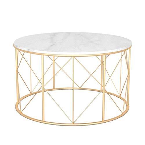 FCXBQ Tische Round Modern Home D & Eacute; COR Beistelltisch/Couchtisch, Akzent Sofa Tisch für Wohnzimmer Schlafzimmer Kleiner Raum, Metall, Marmor