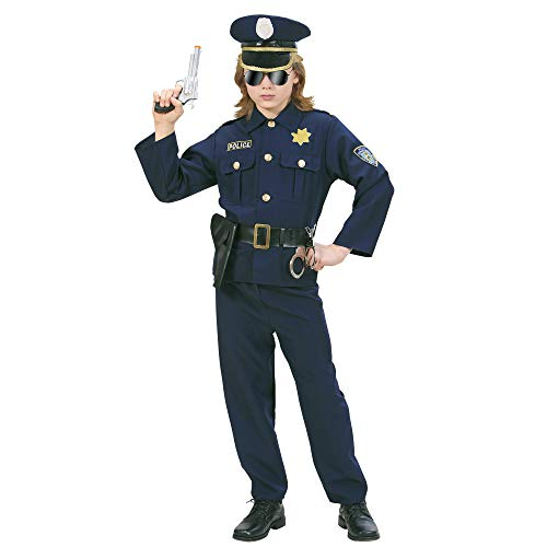 WIDMANN Widman - Disfraz de policía para niño, talla 8-10