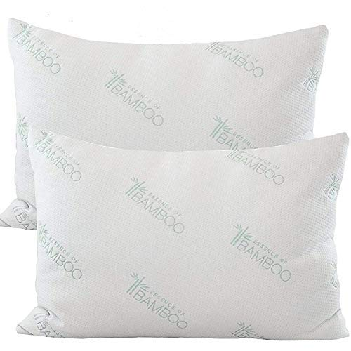 "Original ESSENCE OF BAMBOO Down Alternative Pillow Jumbo Size 20"" x 28"" ( 2 Pack)"