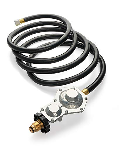 GASPRO 10FT Two Stage Propane Regulator Hose with Standard P.O.L.and 3/8in Female for RV,Grill,Generator,Gas Stove,Range