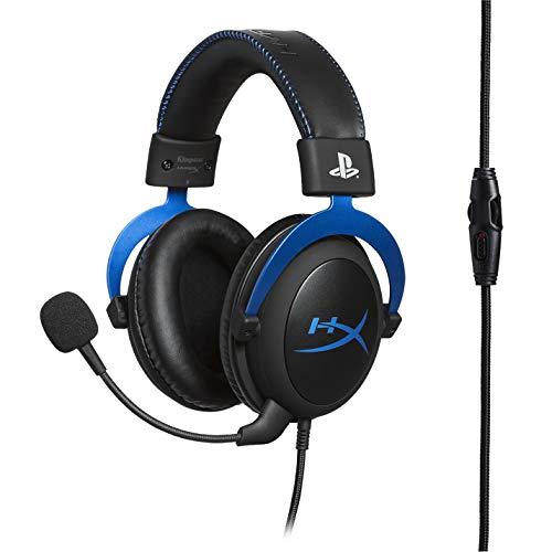 HyperX HX-HSCLS-BL Cloud for PS4 - Gaming Kopfhörer für PS4 mit In-Line Audio Control