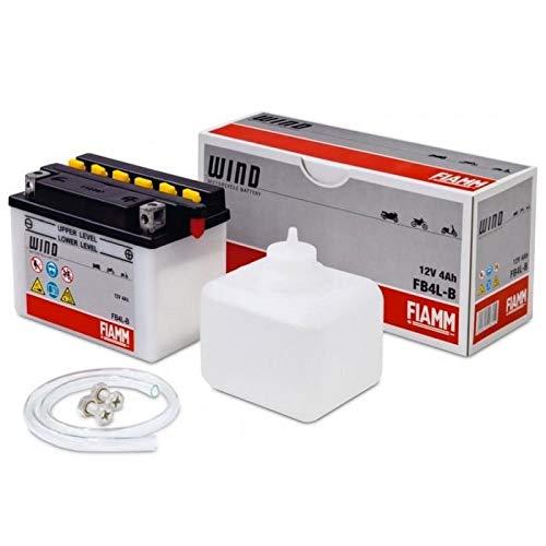 Batteria Moto 50 Cinquantini FIAMM FB4L-B - L121xl71xH93 - Fornita con acido- 4Ah-12V
