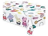 Peppa Pig 0539, Mantel de plástico Fiestas y cumpleaños, Dimensiones 120x180cms