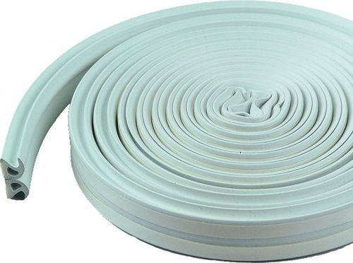 M-D Building Products 43846 Thermal Blend All Climate Wave Profile Weather-Strip, W X 17 Ft L X 3/8 in T, White
