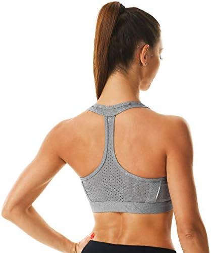 Rocorose Women's Sports Bra Longline Seamless Padded Light Support Workout Shirts Bra Yoga Tank Top
