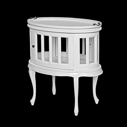 Rococo Licorera Oval Blanco