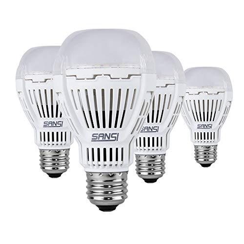SANSI E27 LED Lampe 13W (ersetzt 100W Glühbirne) Ultra Hell 5000 Kelvin Kaltweiß LED Birne A60 1600lm LED Leuchmittel, nicht dimmbar, 4er-Pack