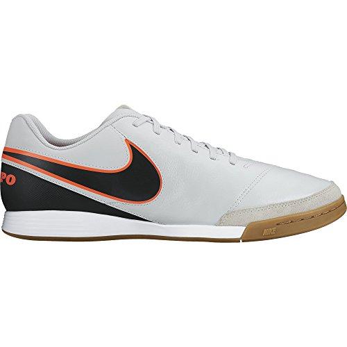 Nike Herren Tiempo Genio II Leather FG Fußballschuhe, Weiß (Pure Platinum/Black-Hypr Orng 001), 6.5