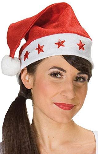 Horror-Shop Chapeau de Père Noël avec des étoiles LED