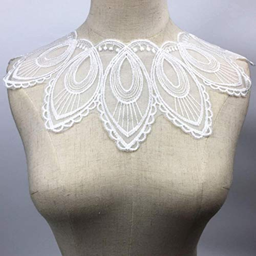 1 stks wit fijne venise kant stof jurk applique blouse naaien versieringen diy hals kraag kostuum decoratie accessoires, bw164