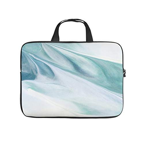 Bolsa para ordenador portátil con textura de mármol normal, multifuncional, tono fresco adecuado para viajes de negocios