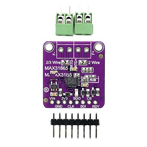 MAX31865 Platin Widerstandstemperaturfühler Verstärkermodul RTD Thermoelement Sensor PT100 bis PT1000 für Arduino - Lila