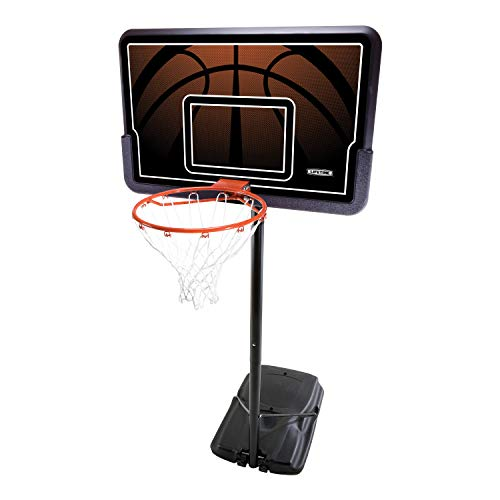 Lifetime 90040 Height Adjustable Portable Basketball System, 44 Inch Backboard, Black/Orange
