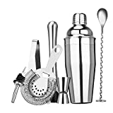 KLAS REMO Cocktail Shakers Cocktail Making Set Professional Kit for Bartender 304 Grade Stainless Steel