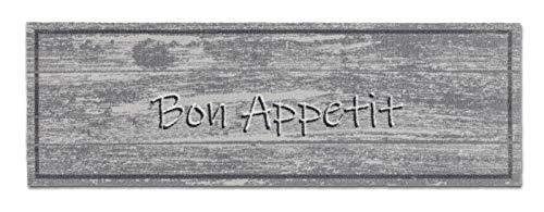 Bavaria Home Style Collection Küchenteppich Küchenläufer Küchenmatte Dekoläufer für Küche Flur Teppich Läufer waschbar waschbare Küchenläufer Küchendeko Landhaus Stil Bon Appetit Gr 50 x 150 cm