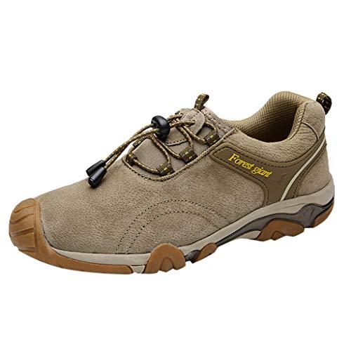 HDUFGJ Wanderschuhe Trekkingschuhe Herren,Warm Plus Samt Winterschuhe rutschfeste Sneaker Sport Hiking Outdoor Schuhe Wanderschuhe Herren Outdoor rutschfest Trekkingschuhe38 EU(Khaki)