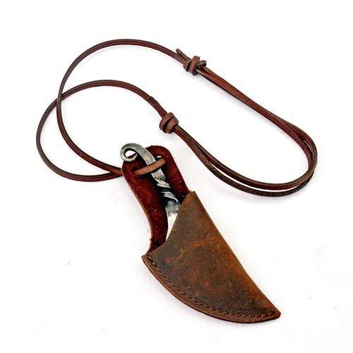 Pera Peris Geschmiedetes Halsmesser/Neck-Knife im Stil der Wikinger-Zeit aus Eisen