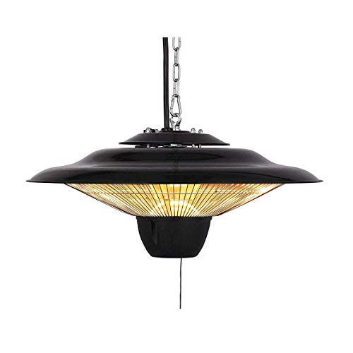 ZTGHS Outdoor Electric Patio Heater, Ceiling Mounted 2500W Hanging Heat Lamp with 2 Gears Adjustable Parasol Heater for Indoor Outdoor Garden
