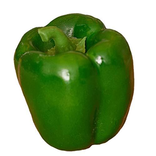 Case Cover 1 Pc Artificial Naturgetreue Big Bell Green Pepper Gefälschte Gemüse Home Küchentisch Lebensmittel Dekoration Fotografie Props