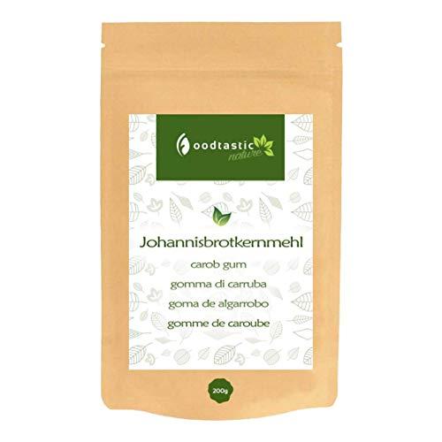 Foodtastic Johannisbrotkernmehl 200g I sehr kalorienarm und günstig, Low Carb Backzutat I Verdickungsmittel I Premium Xanthan Gum E410