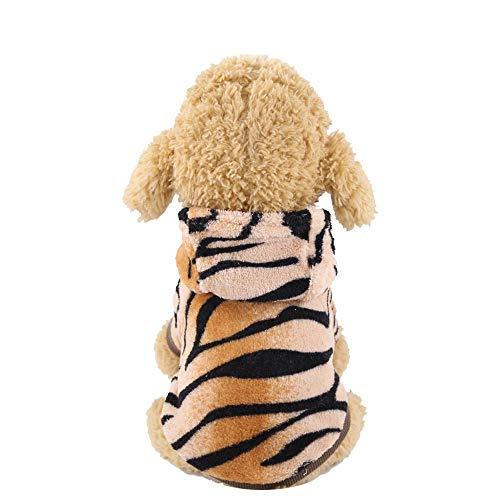 YIkeyo Ropa Perro Pequeño Chihuahua Yorkshire Bichon maltes Caniche - Disfraz Tigre Sudadera con Capucha Abrigo de Mascota Cachorro Gatos