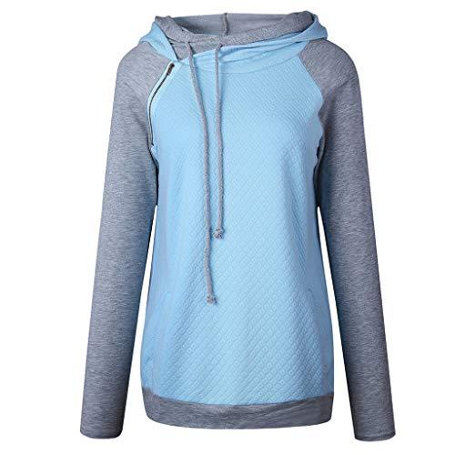 Damen Kleidung,Frauen Langarm Hoodie Sweatshirt Pullover Mit Kapuze Baumwollmantel Pulli Pullover Rollkragen