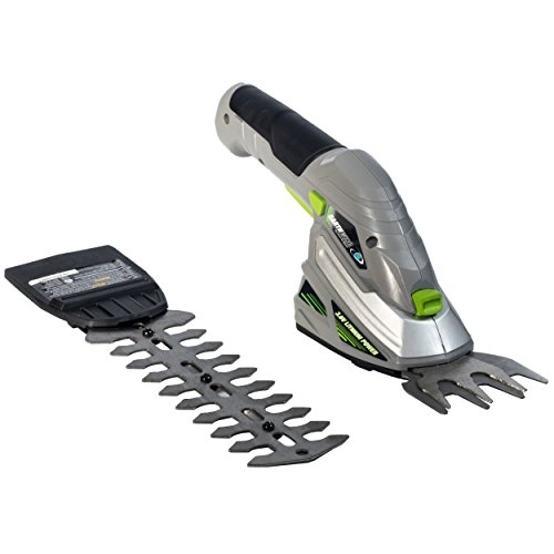 Earthwise Cordless Rechargeable 2-in-1 Shrub Shear and Hedge Trimmer...