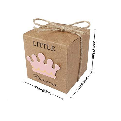 Regalos 10pcs Papel Kraft caramelo de la caja de regalo Bolsas favores de partido for invitados de boda cumpleaños de la decoración Presents ( Color : Little Princess , Gift Box Size : 5x5x5cm )