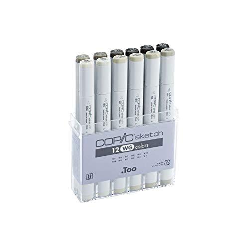 Copic Sketch Marker Set: Oval Barrel, Super Brush...