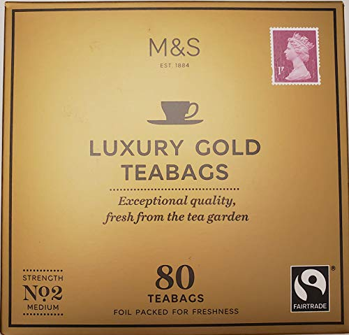 Marks and Spencer UK. Luxury Gold Range Teabags 80 Bags. (1 Pack)