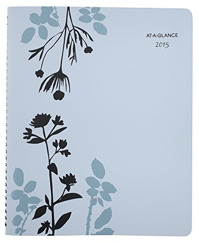 AT-A-GLANCE Weekly and Monthly Appointment Book 2015, Botanique, Wirebound, 8.5 x 11 Inch Page Size (759-905)